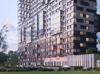 Фасады дома выполнены с применением крупноформатных фибропанелей и клинкерной плитки «под кирпич»
